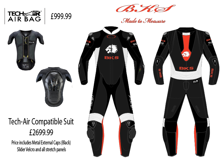 Alpinestars Tech Air and BKS Made to Measure Tech Air compatible suits